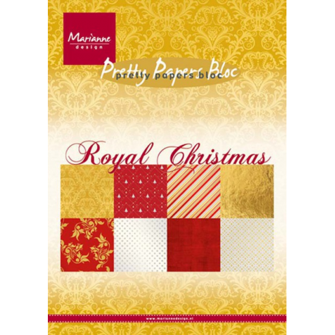 Marianne Designs A5 Marianne Design Pretty Papers Bloc - Royal Christmas