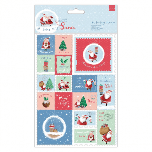 Papermania A5 POSTAGE STAMPS (32PCS) - AT HOME WITH SANTA