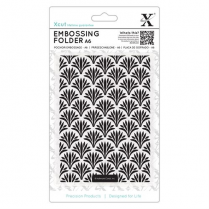 X-cut A6 Embossing Folder - Art Deco Pattern