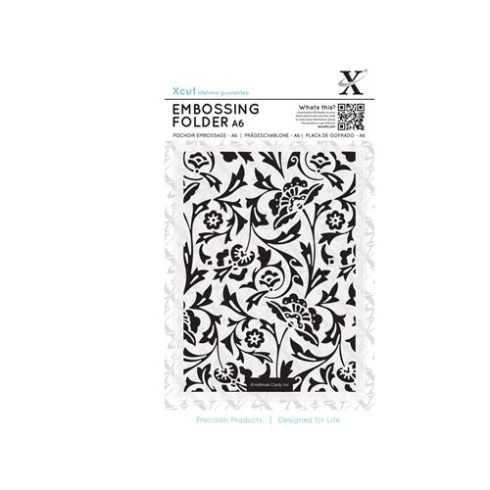 Docrafts A6 Embossing Folder - Baroque Florals