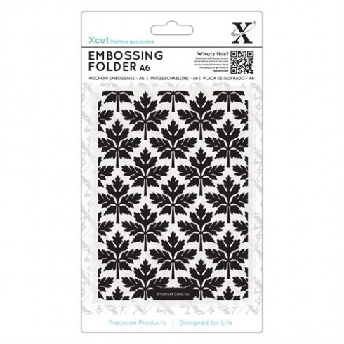 X-cut A6 Embossing Folder - Baroque Leaves