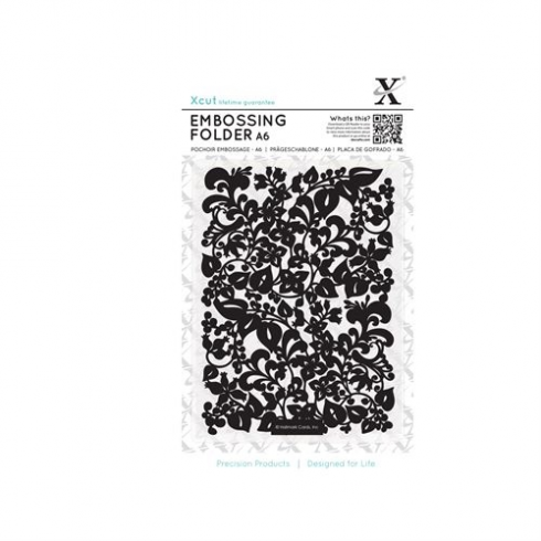 Docrafts A6 Embossing Folder - Sweeping Florals