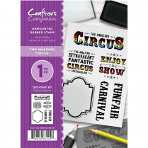 Crafters Companion A6 Unmounted Rubber Stamp - The Amazing Circus