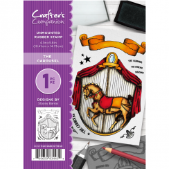 Crafters Companion A6 Unmounted Rubber Stamp - The Carousel
