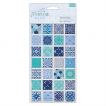 Docrafts Adhesive Tiles (56pcs) - Capsule - Moroccan Blue
