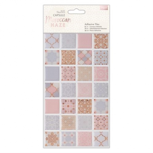 Docrafts Adhesive Tiles (56pcs) - Capsule - Moroccan Haze