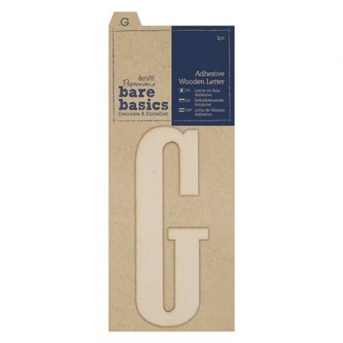 Papermania Adhesive Wooden Letter G (1pc)