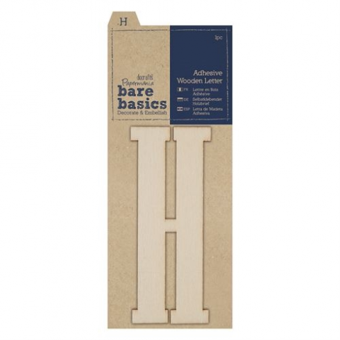Papermania Adhesive Wooden Letter H (1pc)