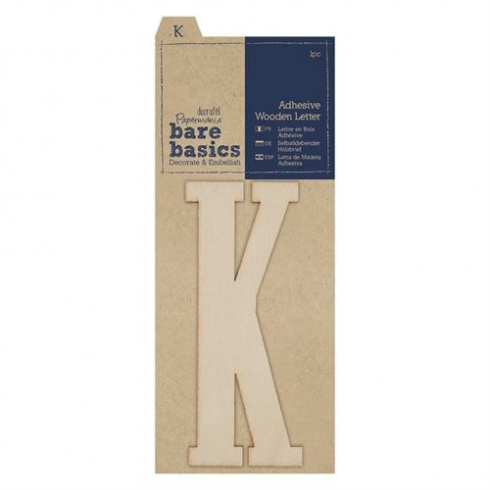 Papermania Adhesive Wooden Letter K (1pc)