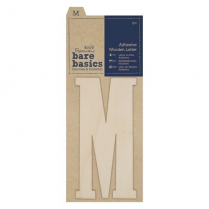 Papermania Adhesive Wooden Letter M (1pc)