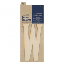 Papermania Adhesive Wooden Letter W (1pc)