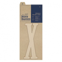 Papermania Adhesive Wooden Letter X (1pc)