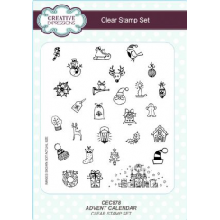 Creative Expressions Advent Calendar A5 Clear Stamp Set