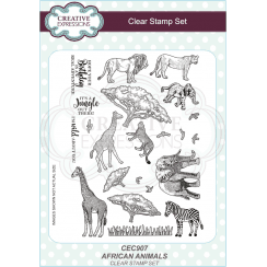 Sue Wilson African Animals A5 Clear Stamp Set