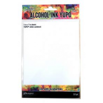"Ranger Alcohol Ink Yupo 10 sheets 5"" x 7"" White Cardstock"