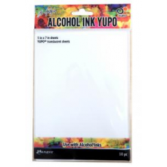 "Ranger Alcohol Ink Yupo pk 10 5"" x 7"" Translucent Sheets"
