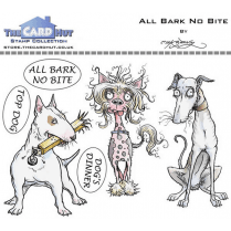 The Card Hut ALL BARK NO BITE - STAMP SET