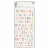 Docrafts Alphabet Thicker Stickers (161pcs) - Freshly Cut Flowers