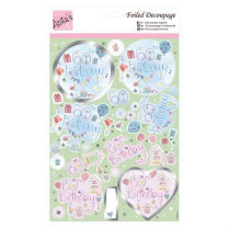 Anitas Foiled Decoupage - 60th Birthday