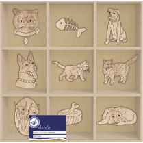 Aurelie Cats & Dogs Wooden Ornaments