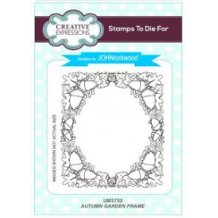 Creative Expressions Autumn Garden Frame Pre Cut Stamp