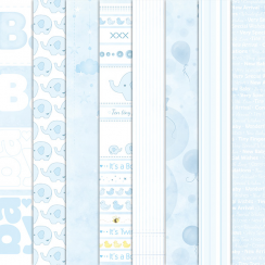 Craft Creations Baby Boy Background Papers