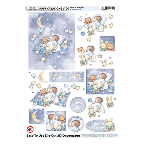 Craft Creations Baby Boy DCD535