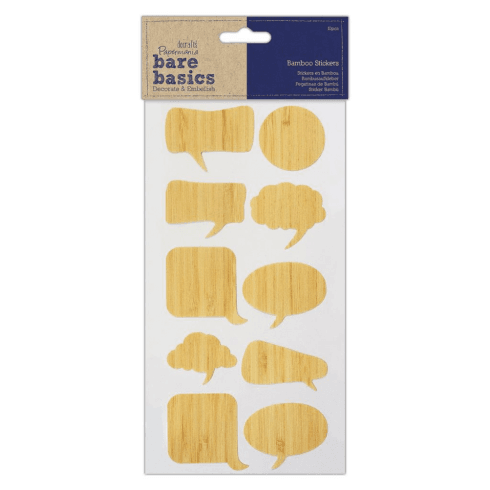 Papermania BAMBOO STICKERS (10PCS) - BARE BASICS