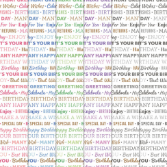 Craft Creations Birthday Words Background Papers