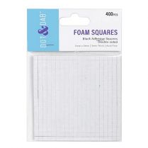 Dot & Dab Black Foam Squares x 400 (3mm)