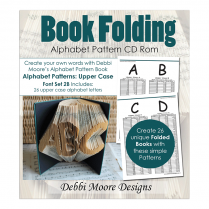 Debbi Moore Designs  Book Folding Alphabet Set 2B Upper Case CD
