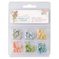 Docrafts Brads (60pcs) - Freshly Cut Flowers