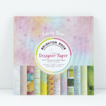 Clarity Brighton Rock - Candy Shop Collection - 8x8 Designer Paper Pad