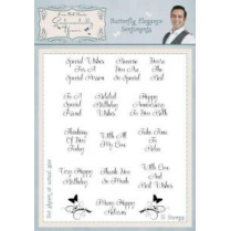 Phill Martin Butterfly Elegance Sentiments Clear Stamp Set