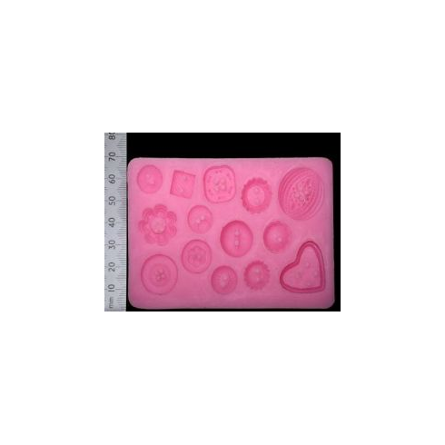 WOW Buttons - Silicone Mould