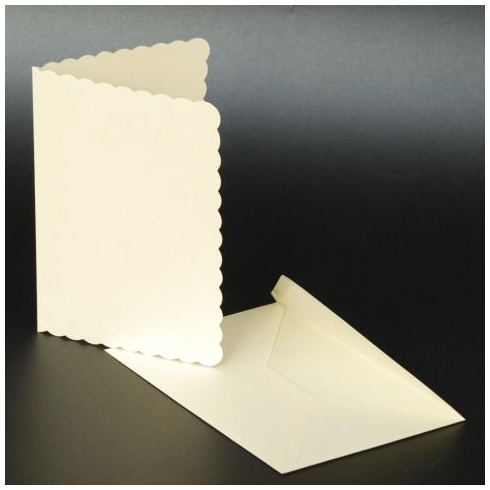 Craft UK C5 Scallop Cards & Env - Ivory