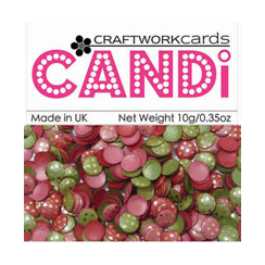 Craftwork Cards Card Candi - Very Merry Gold