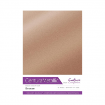 Centura Metallic Single Colour 10 Sheet Pack - Bronze