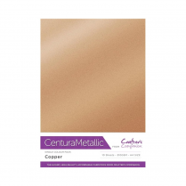 Centura Metallic Single Colour 10 Sheet Pack - Copper