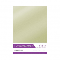 Centura Metallic Single Colour 10 Sheet Pack - Green Gold
