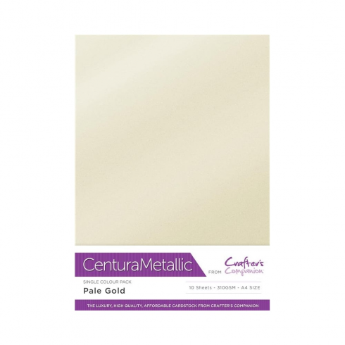 Centura Metallic Single Colour 10 Sheet Pack - Pale Gold