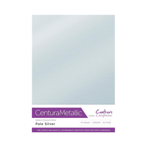 Centura Metallic Single Colour 10 Sheet Pack - Pale Silver