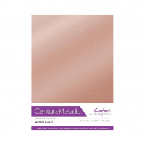 Centura Metallic Single Colour 10 Sheet Pack - Rose Gold