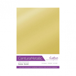 Centura Metallic Single Colour 10 Sheet Pack - Solar Gold