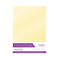 Centura Metallic Single Colour 10 Sheet Pack - White Gold