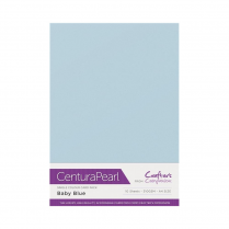 Centura Pearl Single Colour 10 Sheet Pack - Baby Blue