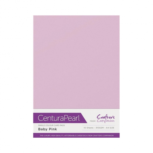 Centura Pearl Single Colour 10 Sheet Pack - Baby Pink