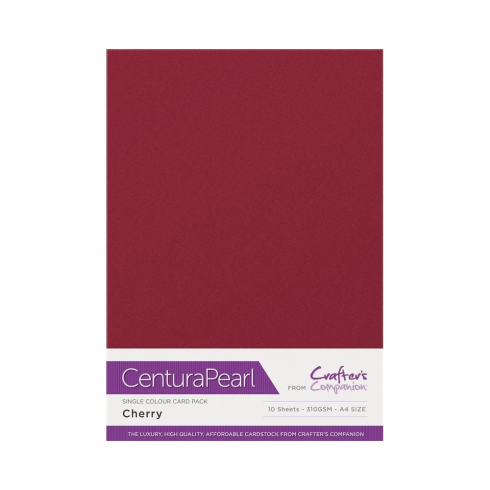 Centura Pearl Single Colour 10 Sheet Pack - Cherry