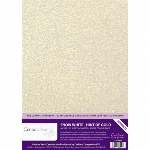 Centura Pearl Single Colour Snow White Hint of Gold