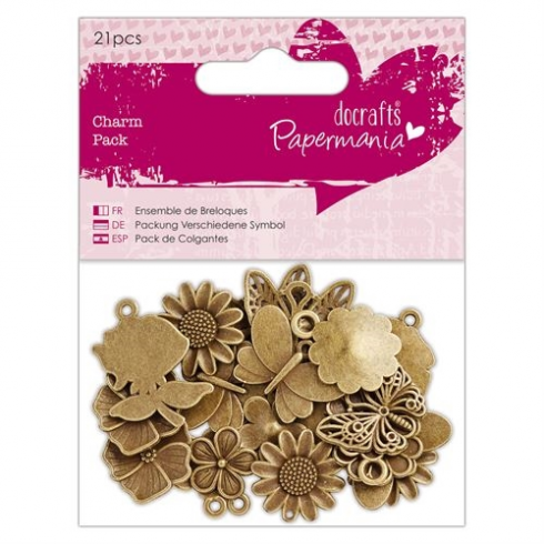 Payper Box Charm Pack (21pcs) - Papermania - Flowers & Butterflies